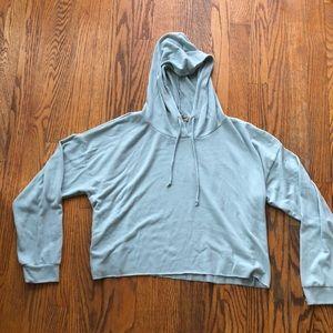 Lightweight cropped hoodie